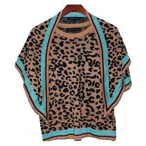 2 Piece Cheetah Print Sweater